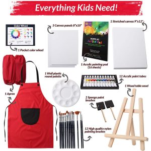 RiseBrite Kids Art Sets Come With Everything They Need To Get Started Acrylic Painting