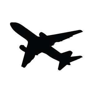 Boeing 767 Silhouette Stencil
