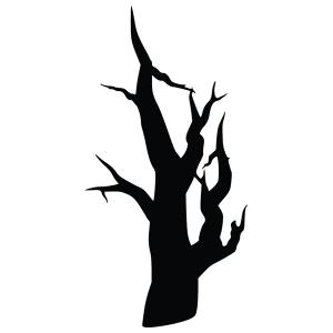 Bare Tree Silhouette Stencil