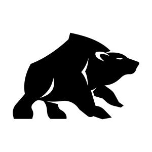 Black Bear Silhouette Stencil