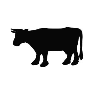 Bull Silhouette Stencil