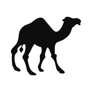 Camel Silhouette Stencil