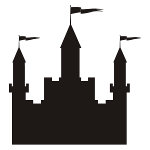 Castle Silhouette Stencil