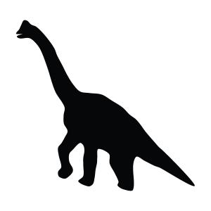 Dinosaur Silhouette Stencil
