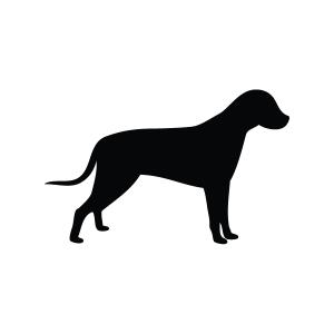 Dog Silhouette Stencil