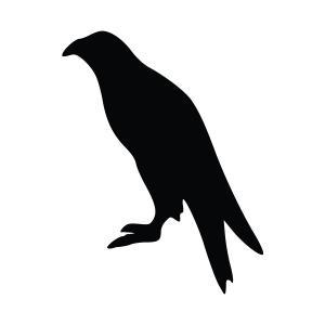 Eagle Silhouette Stencil