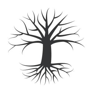 Enchanted Tree Stencil