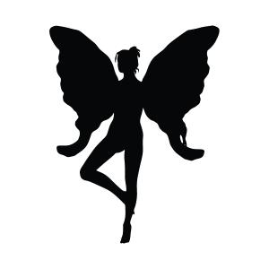 Fairy Silhouette Stencil
