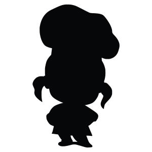 Girl Baker Silhouette Stencil