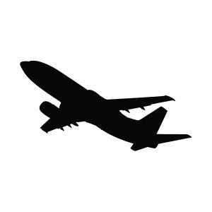 Plane Silhouette Stencil
