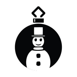 Snowman Silhouette Stencil