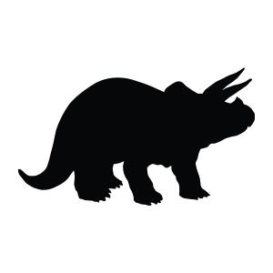 Triceratops Silhouette Stencil