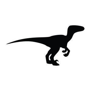 Velociraptor Silhouette Stencil
