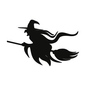 Witch Silhouette Stencil