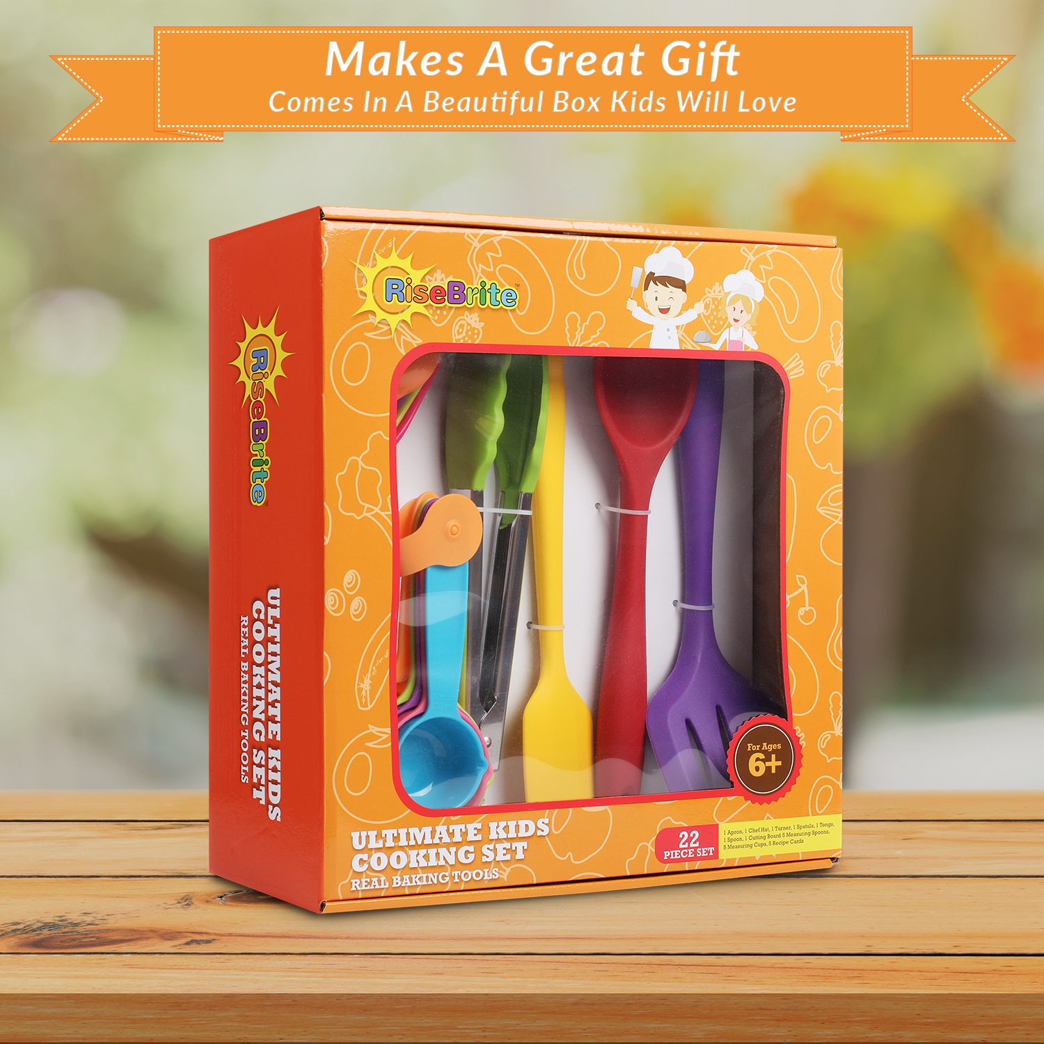 RiseBrite Ultimate Kids Cooking Set Comes In A Cute Box Perfect For Gifting