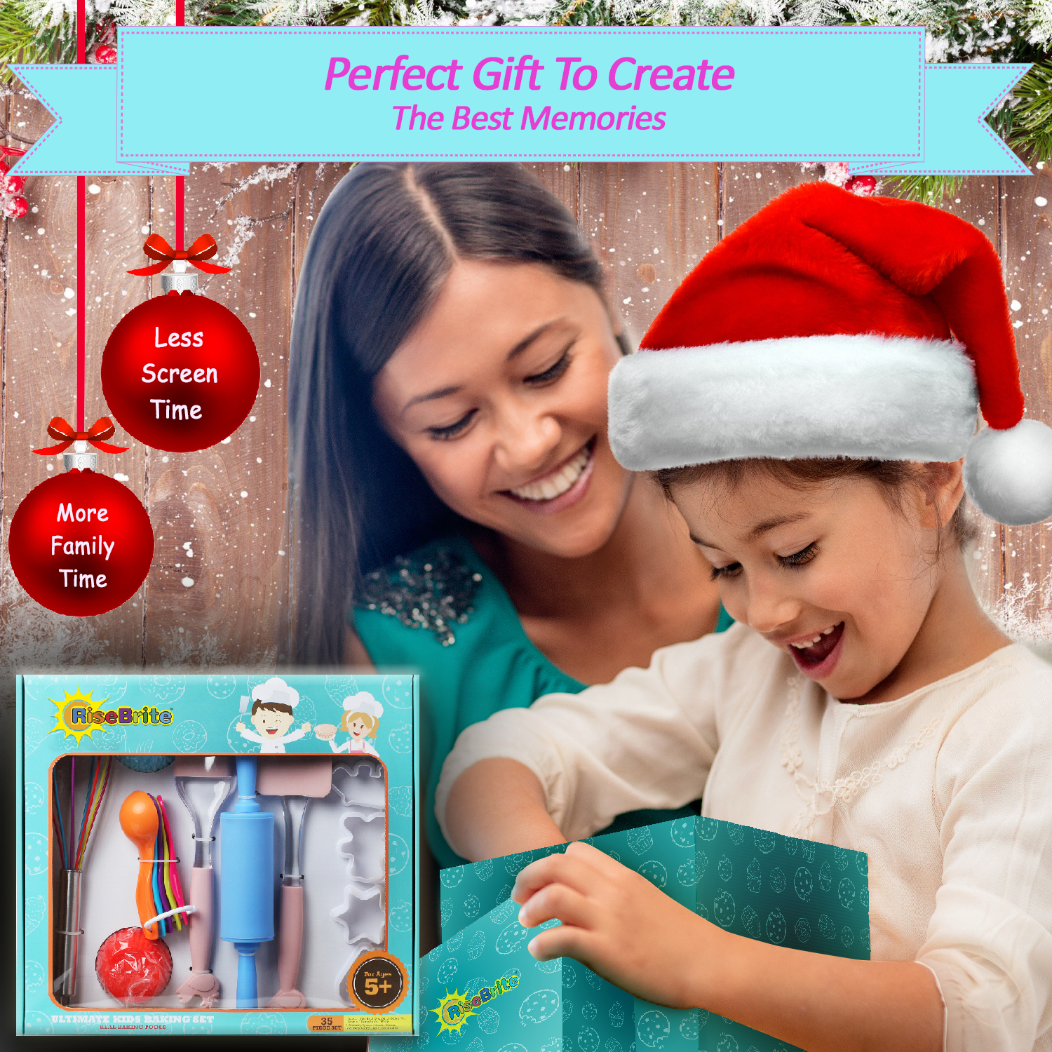 RiseBrite Kids Baking Set Come In A Beautiful Box, Perfect For Gift Giving