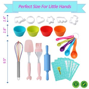 RiseBrite Kids Baking Set Utensils Are Colorful And Sized To Fit Small Hands