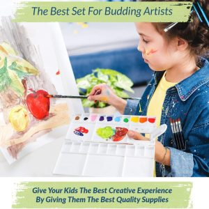 Young Girl Painting Apple With RiseBrite Watercolor Paint Set