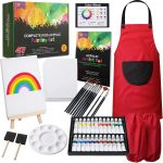 RiseBrite Kids Acrylic Art Set 47 Pieces Has 24 Paint Colors