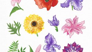 Easy Watercolor Flowers For Kids And Beginners