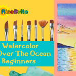 Easy Sunset Over Water Watercolor Painting