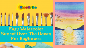 Easy Watercolor Sunset Over The Ocean For Kids And Beginners