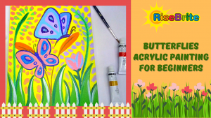Easy Acrylic Butterfly Painting For Beginners And Kids