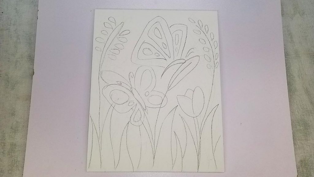 Easy Acrylic Butterfly-Painting Step 1: The Sketch