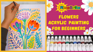 Easy Step By Step Acrylic Flower Painting For Beginner And Kids