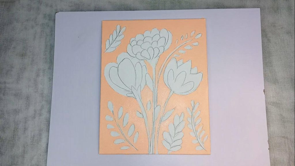 Acrylic Flower Painting For Beginner And Kids Step 2: Painting The Background