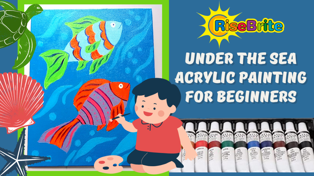 Simple, Cute, and Whimsical Underwater Fish Painting for Kids and Beginners