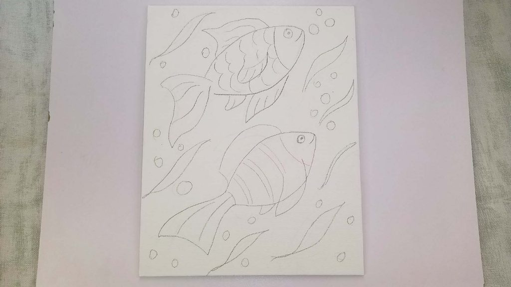 Simple, Cute, and Whimsical Underwater Fish Painting for Kids and Beginners Step 1: Sketching Your Tropical Fish Artwork
