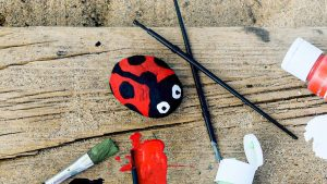 Cute Animal Rock Painting For Kids