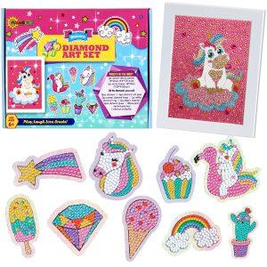 RiseBrite Diamond Paint Kit For Kids - Unicorn