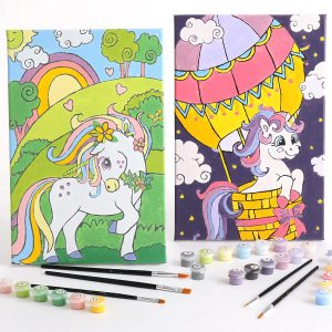 RiseBrite Paint By Numbers Kit For Kids - Unicorn 2pk