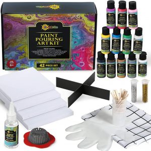 RiseBrite Acrylic Pouring Paint Kit