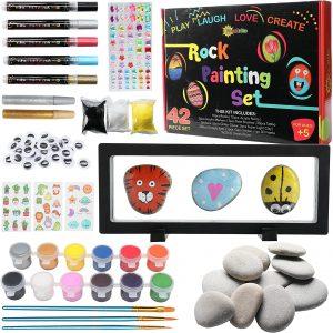 RiseBrite Rock Painting Kit With Display Frame